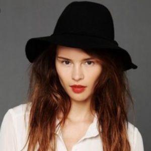 Black Free People Wool Hat